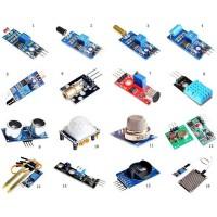 Набор датчиков, сенсоров и модулей для Arduino / Raspberry - 16 шт