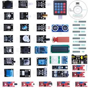 2 версия набора датчиков, сенсоров и модулей для Arduino / Raspberry - 37 шт Arduino совместимые наборы