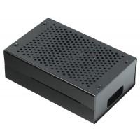 Корпус с  для Raspberry Pi 4 (алюминий / чёрный)
