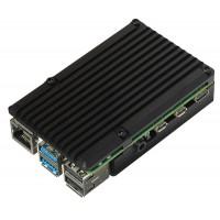 Корпус для Raspberry Pi 4 с вентиляторами (алюминий / чёрный) Корпусы и охлаждение