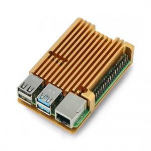 Корпус для Raspberry Pi 4 (алюминий / золотой) Аксессуары
