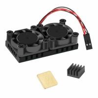 Радиатор с двумя вентиляторами для Raspberry PI 3B+ и PI 4B