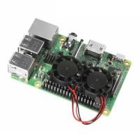 Радиатор с двумя вентиляторами для Raspberry PI 3B+ и PI 4B Радиаторы