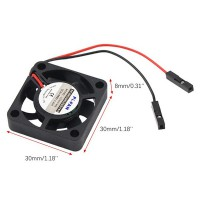 Вентилятор 3-5В 30х30х7 (совместим с Raspberry Pi) для 3d принтера