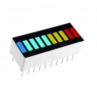 Светодиодный дисплей 10 сегментов 4 цвета