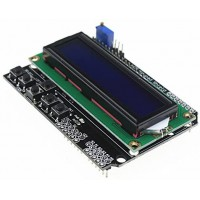 LCD1602 Символьный дисплей 16x2 Синий с клавиатурой