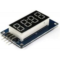 Светодиодный модуль дисплей 4 цифры (часы) с драйвером TM1637