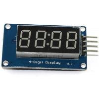 Светодиодный модуль дисплей 4 цифры (часы) с драйвером TM1637 Дисплеи