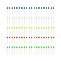 Набор 100 светодиодов 3 мм - 5 цветов