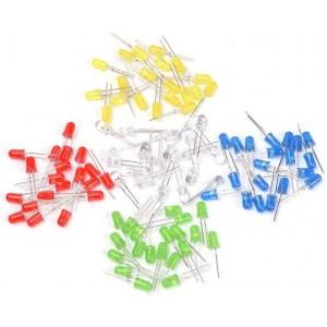Набор 100 светодиодов 5 мм - 5 цветов