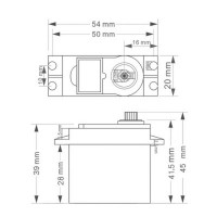 Сервопривод DM-S0306D - 3.5 кг - 360 градусов