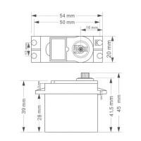 Сервопривод SG-5010 - 6.5 кг - 120 градусов