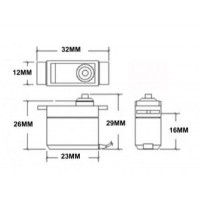 Сервопривод SG92R - 2.5 кг - 90 градусов