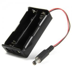 Батарейный отсек 2x18650 с коннектором Отсеки для батареек