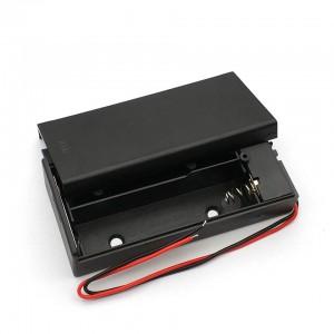 Батарейный отсек 2x18650 закрытый с выключателем Отсеки для батареек
