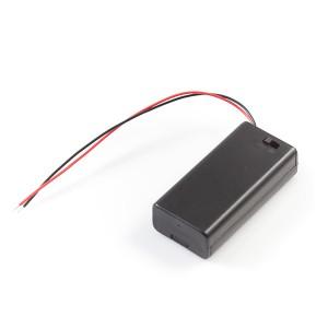 Батарейный отсек 2xAA закрытый с выключателем Отсеки для батареек