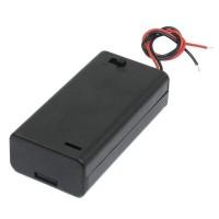 Батарейный отсек 2xAAA закрытый с выключателем