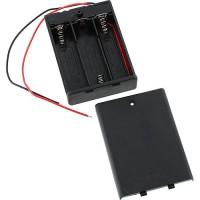 Батарейный отсек 3xAA закрытый с выключателем Отсеки для батареек