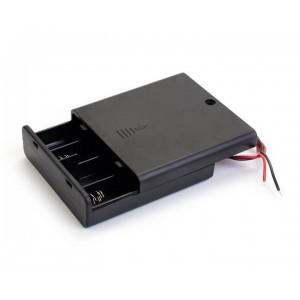 Батарейный отсек 4xAA закрытый с выключателем Отсеки для батареек