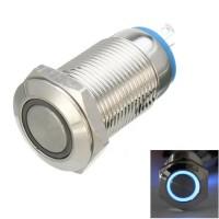 Кнопочный переключатель с синей подсветкой