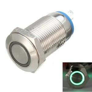 Кнопочный переключатель 12В с зеленой подсветкой Переключатели
