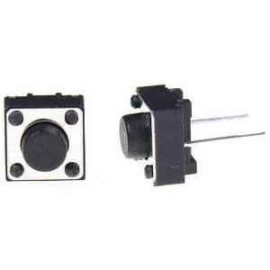 Кнопка тактовая DIP 6x6x5 мм 2 контактная, нога 10 мм Кнопки