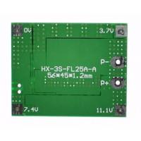 Модуль защиты li-ion аккумуляторов PCB BMS 3S 18650 25A
