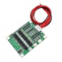 Модуль защиты li-ion аккумуляторов PCB BMS 4S 18650 40A с кабелем