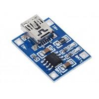 Модуль заряда Li-ion аккумуляторов 1S TP4056 Mini USB 1A