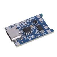Модуль заряда Li-ion аккумуляторов с защитой 1S TP4056 Type-C 1A