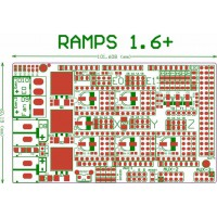 Плата-шилд RAMPS 1.6+