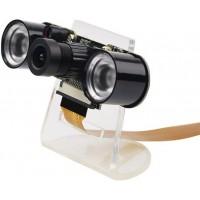 5-МП камера с регулируемым фокусом и ночной ИК подсветкой для Raspberry Pi с кронштейном