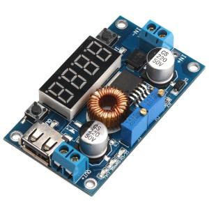 Понижающий DC-DC преобразователь LM2596S с вольтметром и USB Преобразователи питания