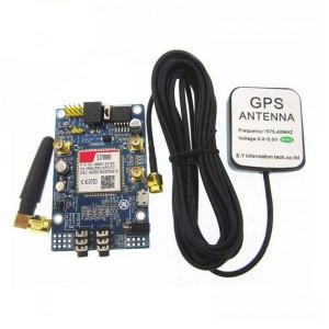 GSM/GPRS + GPS + Bluetooth модуль SIM808 с антеннами