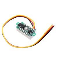 Цифровой LED вольтметр 0 - 100 В - зеленый