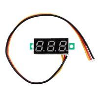 Цифровой LED вольтметр 0 - 100 В - желтый