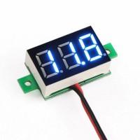 Цифровой LED вольтметр 4.5 - 30 В - синий