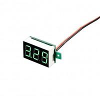 Цифровой LED вольтметр 3.5 - 30 В - зеленый