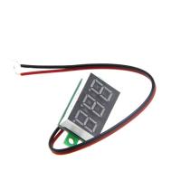 Цифровой LED вольтметр 3.5 - 30 В - красный