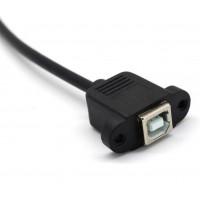 Кабель USB 2.0 B папа на USB 2.0 B мама (разъем), 50см