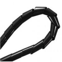 Спиральная 8 мм обмотка для проводов (черная) - 10 метров. для 3d принтера