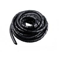 Спиральная 8 мм обмотка для проводов (черная) - 10 метров.