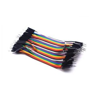 Соединительные провода 40 шт Dupont папа-папа 30 см