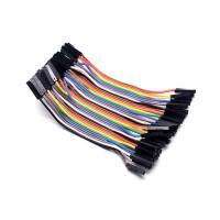 Соединительные провода 40 шт Dupont мама-мама 10 см