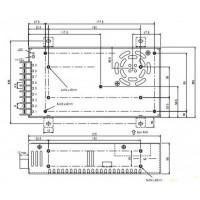 Блок питания S-360-12, 360Вт, 12В, 30А Источники питания AC-DC
