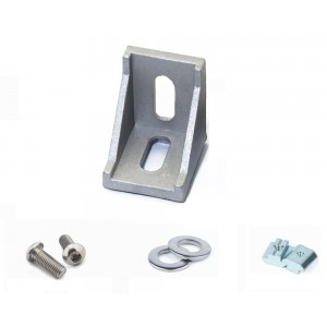 Уголок для крепления алюминиевого профиля 20х20 с креплениями для станков ЧПУ, 3d принтера