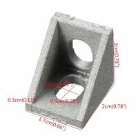 Уголок для крепления алюминиевого профиля 20х20 малый для станков ЧПУ, 3d принтера