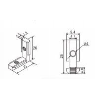 Внутренний угловой соединитель 20х20 для станков ЧПУ, 3d принтера
