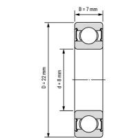 Подшипник 608RS для станков ЧПУ, 3d принтера