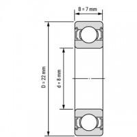 Подшипник 608ZZ для станков ЧПУ, 3d принтера
